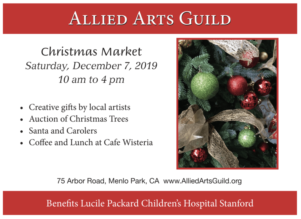 Christmas Market at Allied Arts Guild in Menlo Park